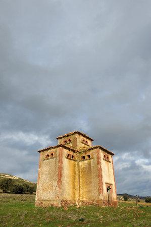 hatchery: Hatchery pigeons, old abandoned dovecote, Puertollano, province of Ciudad Real, La Mancha, Spain