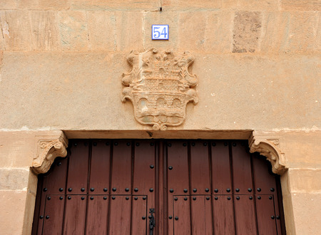 Manor house with stone coat of arms, Almagro, province of Ciudad Real, Castilla La Mancha, Spain