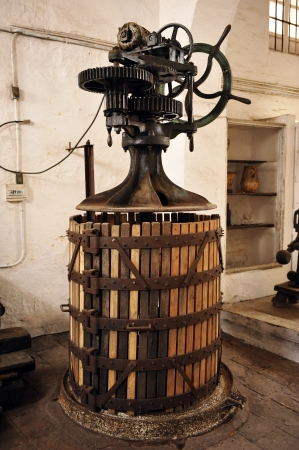 casks: Press for winemaking, winery