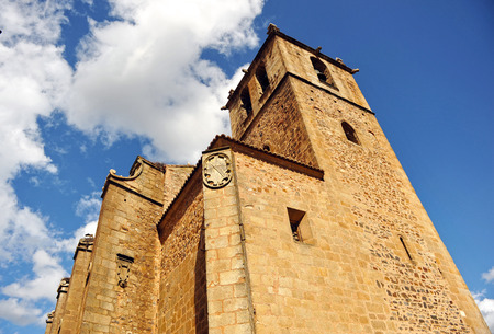 monumental: Church of St  James, Monumental city of Caceres, Extremadura, Spain