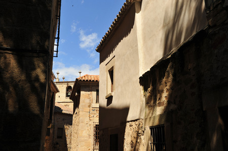 monumental: Street from the monumental city of Caceres, Extremadura, Spain