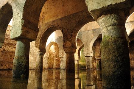 Ancient Arab cistern, Monumental city of Caceres, Extremadura, Spain
