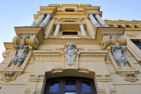 Town Hall of Malaga, sculptures, Andalucia, Spain photo