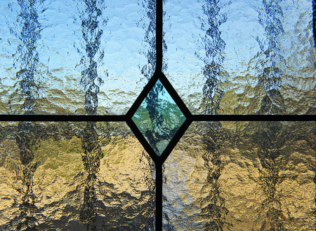 Glass window, stained glass texture, transparency