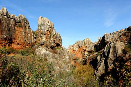 カルストの風景、セロ ・ デル ・ イエロ、州のセビリア、アンダルシア、スペイン