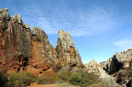 Karstic landscape, Cerro del Hierro, Province of Sevilla, Andalusia, Spain