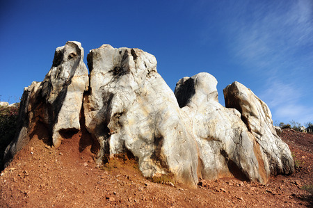 Eroded landscape, Cerro del Hierro, Province of Sevilla, Andalusia, Spain photo