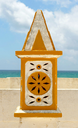 Typical chimney in the region of Algarve, the south of Portugal, Europe Stock Photo - 26055935