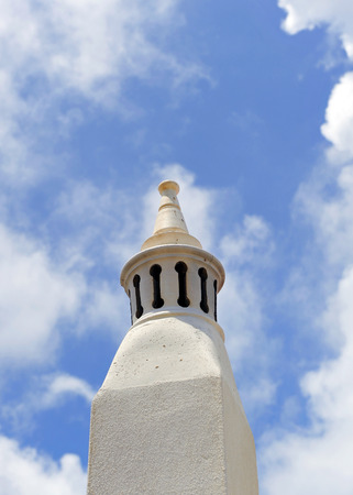 Typical chimney in the region of Algarve, the south of Portugal, Europe Stock Photo - 26055940