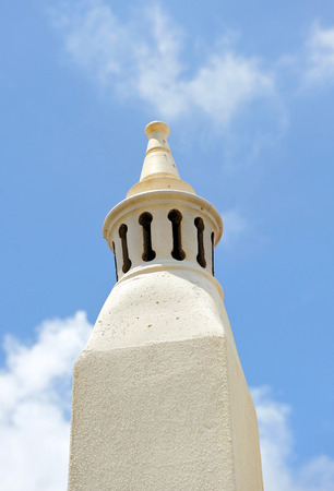 Typical chimney in the region of Algarve, the south of Portugal, Europe Stock Photo - 26055943