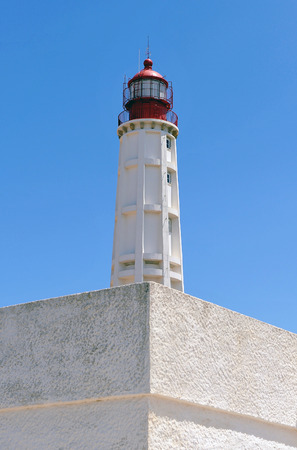 Maritime lighthouse, Culatra Island, region of Algarve, southern Portugal, Europe Stock Photo - 26055966