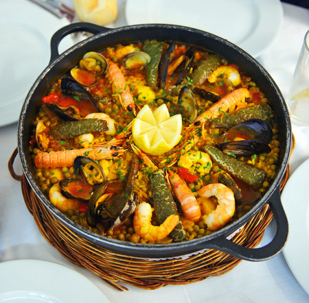 gastronomic: Rice with seafood, Mediterranean cuisine typical dish