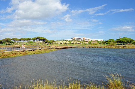 huelva: Panoramic view, the marshes of the Rio Piedras, El Rompido, Huelva Province, Andalusia, Spain