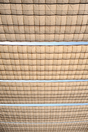awnings: Building with canvas awnings for sun s heat during the summer in Andalusia, Spain Stock Photo