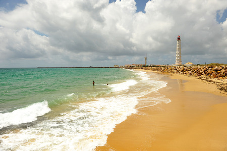 The beach at the island of Culatra, Algarve, southern Portugal, Europe Stock Photo - 26361065