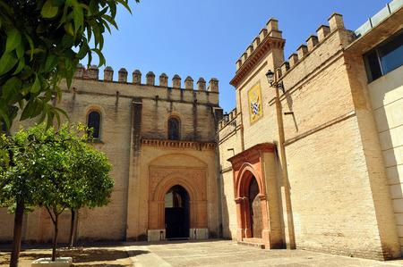edificación: Monasterio de San Isidoro del Campo, Santiponce, Provincia de Sevilla, Andaluc�a, Espa�a Foto de archivo