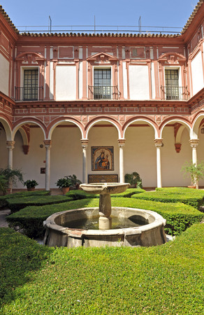murillo: Museum of Fine Arts in Seville, Courtyard of the boxwood, Andalusia, Spain