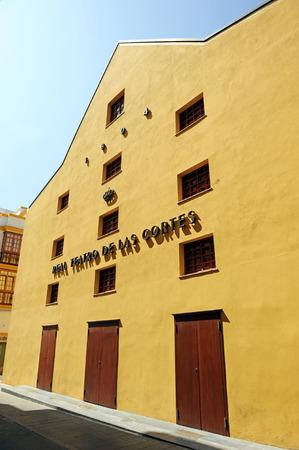 edificación: Teatro de las Cortes, el bicentenario de las Cortes de C�diz Foto de archivo