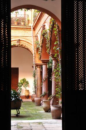 edificación: Barroco Palacio Marqus de Villadaras, patio, Antequera, provincia de M�laga, Andaluc�a, Espa�a