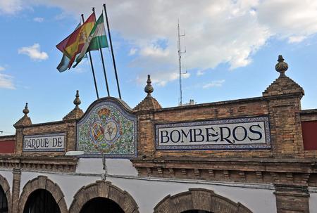 estacion de bomberos: Firehouse, estaci�n de bomberos, bomberos, Sevilla, Andaluc�a, Espa�a