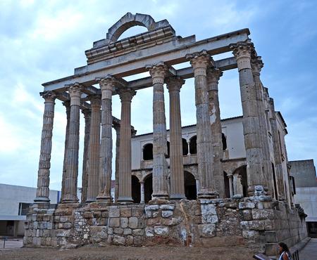 Roman Temple of Diana, Merida, Badajoz Province, Extremadura, Spain photo