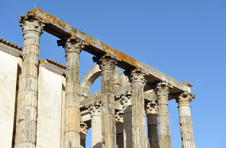 Roman Temple of Diana, Merida, Badajoz Province, Extremadura, Spain photo