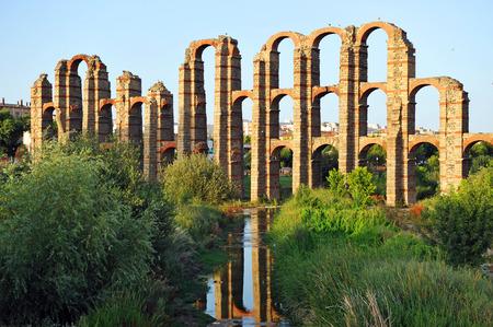 merida: Roman Aqueduct of Los Milagros, Merida, Badajoz Province, Extremadura, Spain