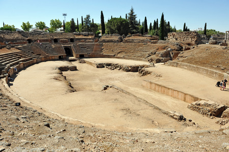 Roman amphitheater of Merida, Badajoz Province, Extremadura, Spain photo