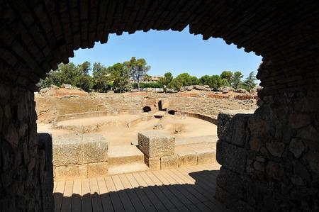 roman amphitheatre: Anfiteatro romano de M�rida, provincia de Badajoz, Extremadura, Espa�a