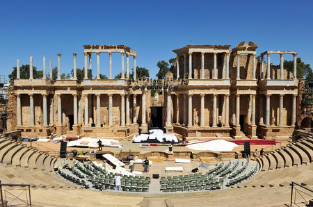 Roman theater in M�rida, Badajoz Province, Extremadura, Spain photo