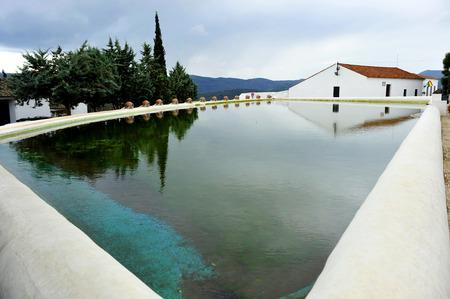 pool halls: Lagoon of Canaveral de Leon, province of Huelva, Andalusia, Spain