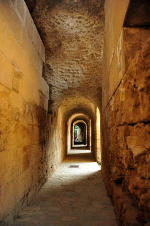 Italica amphitheater galleries, province of Sevilla, Andalusia, Spain photo