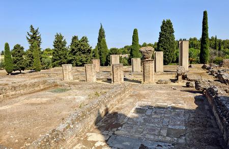 Ruines de la ville romaine d'Italica, Santiponce, province de Séville, Andalousie, Espagne Banque d'images - 26984460