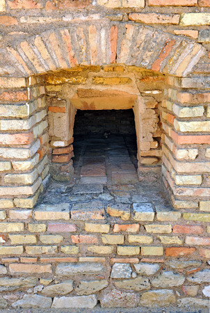 Old bread oven, ruins of the Roman city of Italica, Santiponce, province of Sevilla, Andalusia, Spain