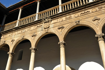 real renaissance: Renaissance architecture of Granada, courtyard of the Hospital Real, Andalucia, Spain Editorial