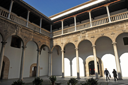real renaissance: Renaissance architecture of Granada, cloister of the Hospital Real, Andalucia, Spain