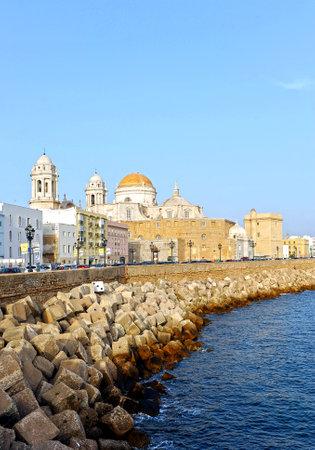 Baroque Cathedral of Cadiz, Atlantic ocean, Andalusia, Spain, Europe