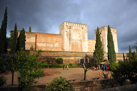 Alcazaba, Palace of the Alhambra, Granada, Andalusia, Spain
