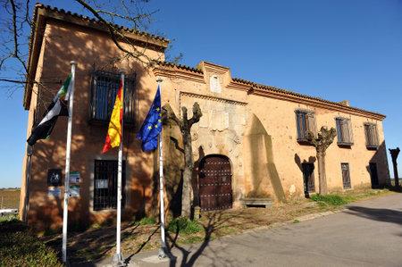ruta: Lastra Palace House, hostel pilgrims on the Camino de Santiago, Torremejia, province of Badajoz, Spain