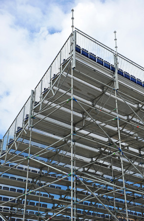 Aluminum metal frame, seat, extra bleachers for outdoor show photo