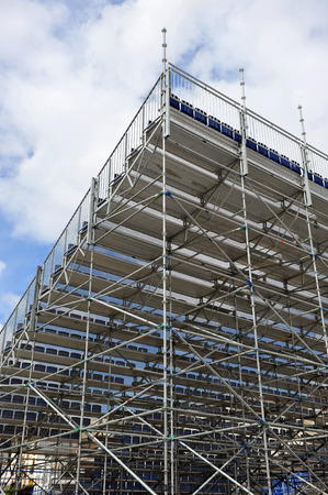 Aluminum metal frame, seating, extra bleachers for outdoor show photo