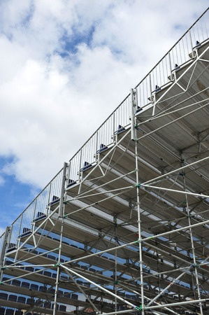 Aluminum metal frame, seating, extra bleachers for outdoor sports photo