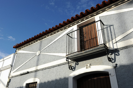 Facade of a typical Andalusian house, Andalusia, Spain photo