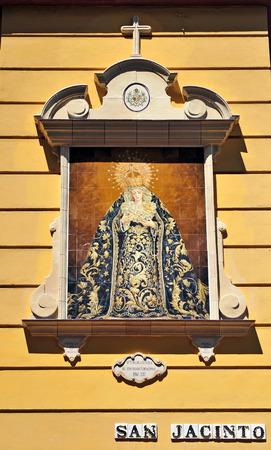 retablo: Retablo cer�mico de la Virgen de la Estrella, Triana, Sevilla, Andaluc�a, Espa�a