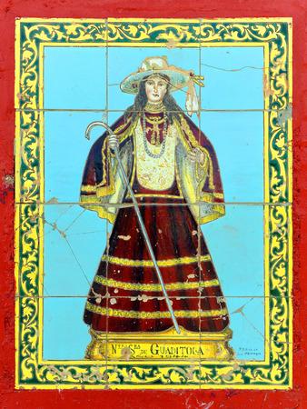 retablo: Azulejos retablo religioso, Virgen de Guaditoca, Guadalcanal, provincia de Sevilla, Andaluc�a, Espa�a