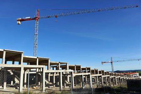 Construction crisis in Spain, Europe, housing bubble, symbol