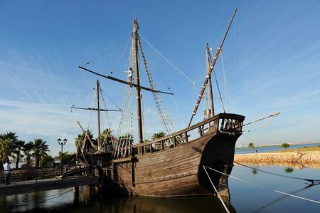 Caravel La Ni�a, Discovering America, the three caravels of Christopher Columbus, Palos de la Frontera, Huelva, Spain photo