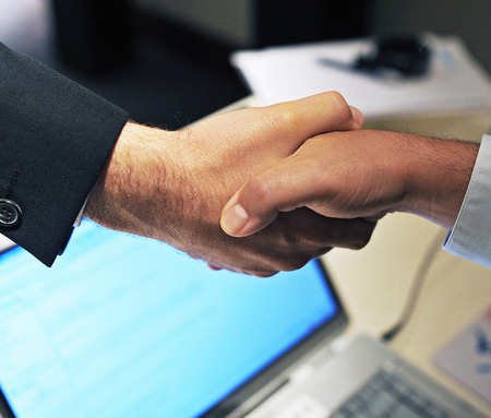 Greeting, handshake, business, deal, closing a contract, to make a deal photo