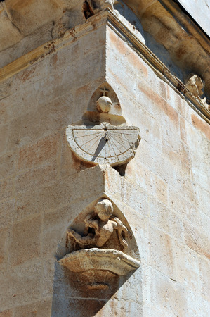 buttresses: Sundial, cathedral of Ciudad Real, Castilla la Mancha, Spain