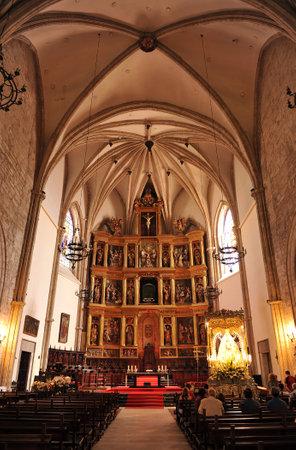 retablo: Retablo Mayor, el interior de la catedral g�tica, Ciudad Real, Castilla la Mancha, Espa�a